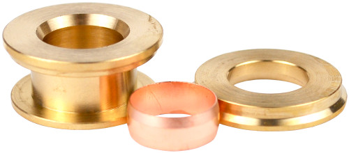 22mm x 15mm Compression 3 Piece Reducing Set
