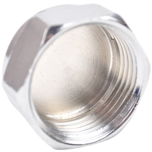 "1/2"" Chrome Plated Brass Threaded Cap"