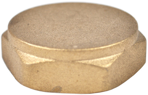 "1 1/2"" Brass Threaded Cap"