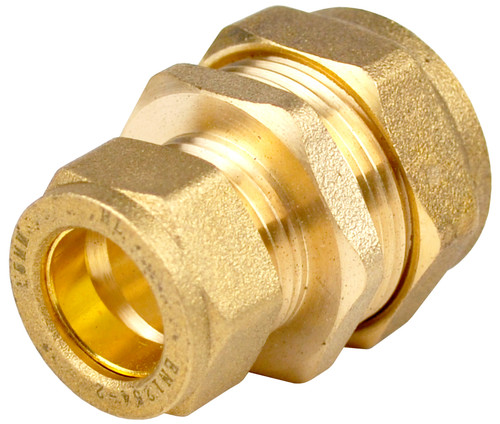 22mm x 15mm Brass Compression Reducing Coupling