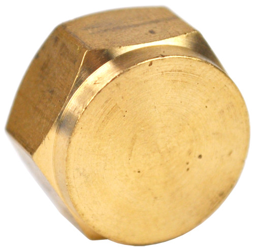 "3/8"" Brass Threaded Cap"