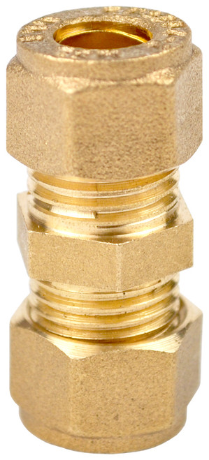 8mm Brass Compression Coupling