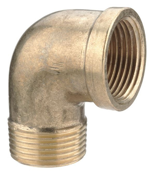 "1/4"" Brass Male to Female Threaded Elbow"