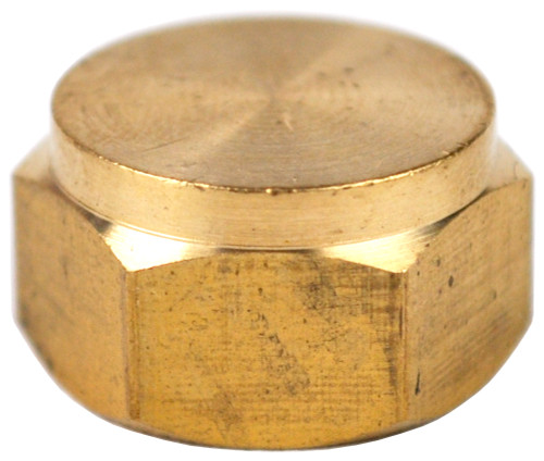 "1/4"" Brass Threaded Cap"