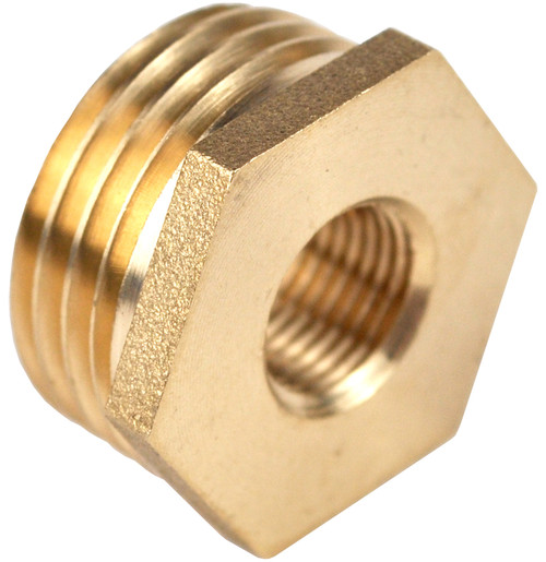 1/2 Inch BSP x 1/8 Inch BSP Brass Reducing Bush