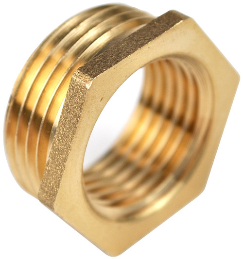 1/2 Inch BSP x 1/4 Inch BSP Brass Reducing Bush