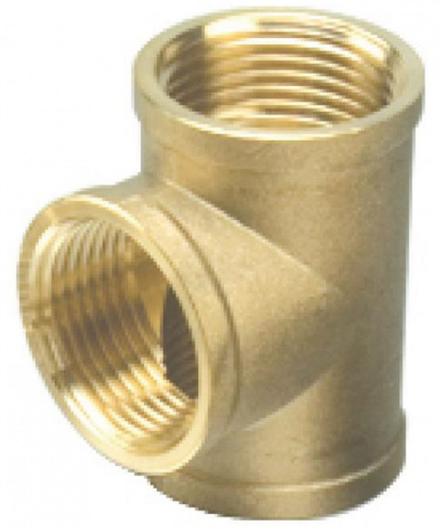 "1/4"" Brass Female Threaded Tee"