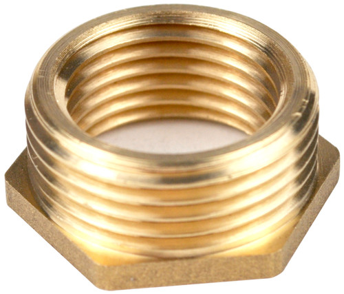 3/4 Inch BSP x 3/8 Inch BSP Brass Reducing Bush