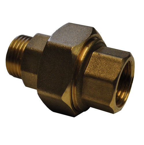 "1/2"" Brass Male & Female Cone Seat Union"