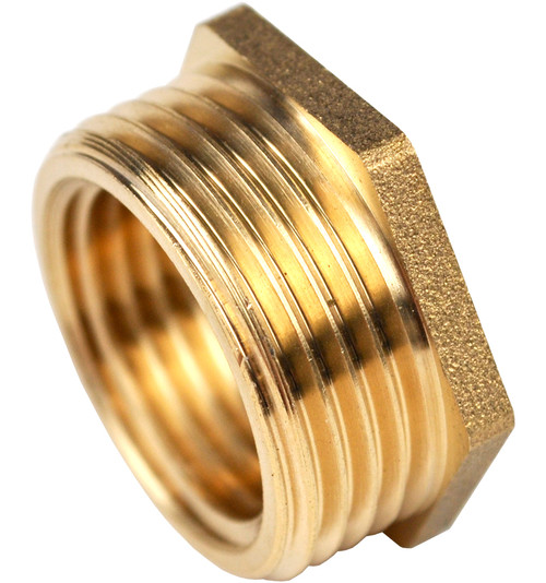 3/4 Inch BSP x 1/2 Inch BSP Brass Reducing Bush