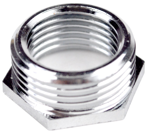 "1/2"" x 3/8"" Chrome Hexagon Threaded Bush"