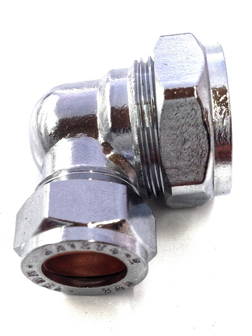 22mm x 15mm Compression Chrome Plated Reducing Elbow