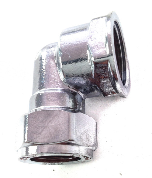 "15mm x 1/2"" Female Chrome Elbow"
