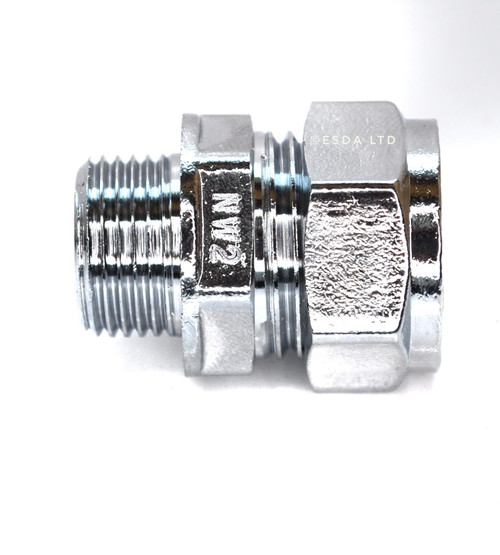 "15mm x 3/8"" Male Chrome Adaptor"