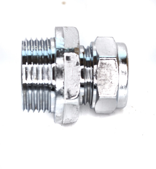 "15mm x 3/4"" Male Chrome Adaptor"