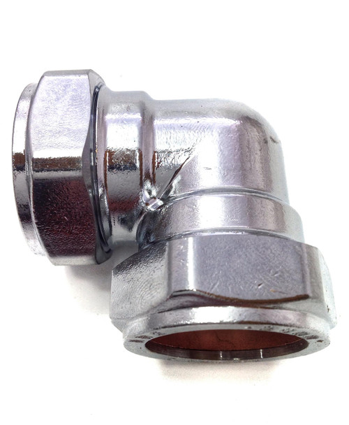 28mm Compression Chrome Plated Elbow