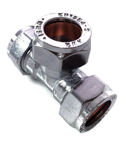 15mm Compression Chrome Tee