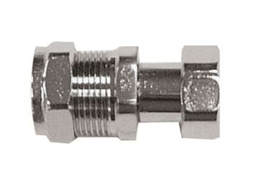 "15mm x 1/2"" Straight Chrome Tap Connector"