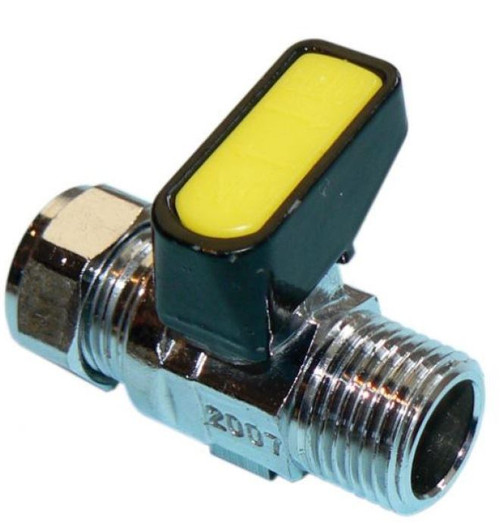 "1/4"" x 8mm Metrogas Mini Lever Gas Ball Valve"