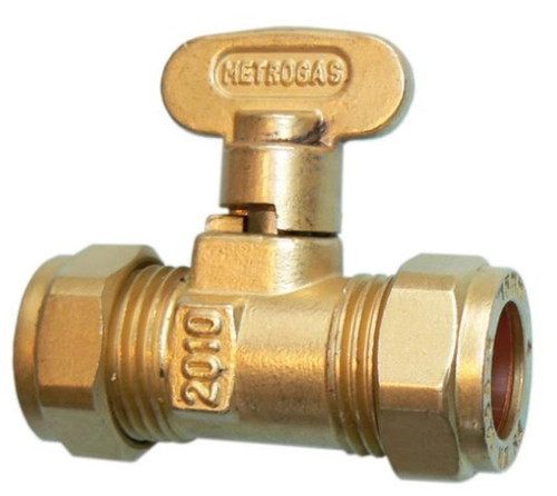 Metrogas 22mm Compression Gas Cock