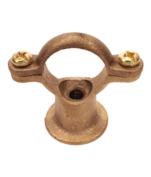 22mm Cast Brass Pipe Ring with Integral Backplate