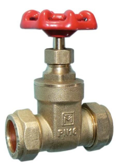 42mm DZR Gate Valve with Cast Handle - BS5154