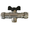 15mm DZR Double Check Valve With Isolating Valve