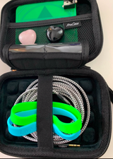 Your Plate comes with a starter kit! Includes extension cord, silicon bands and gemstones (which will vary but includes 2) with each plate! Start imprinting today.