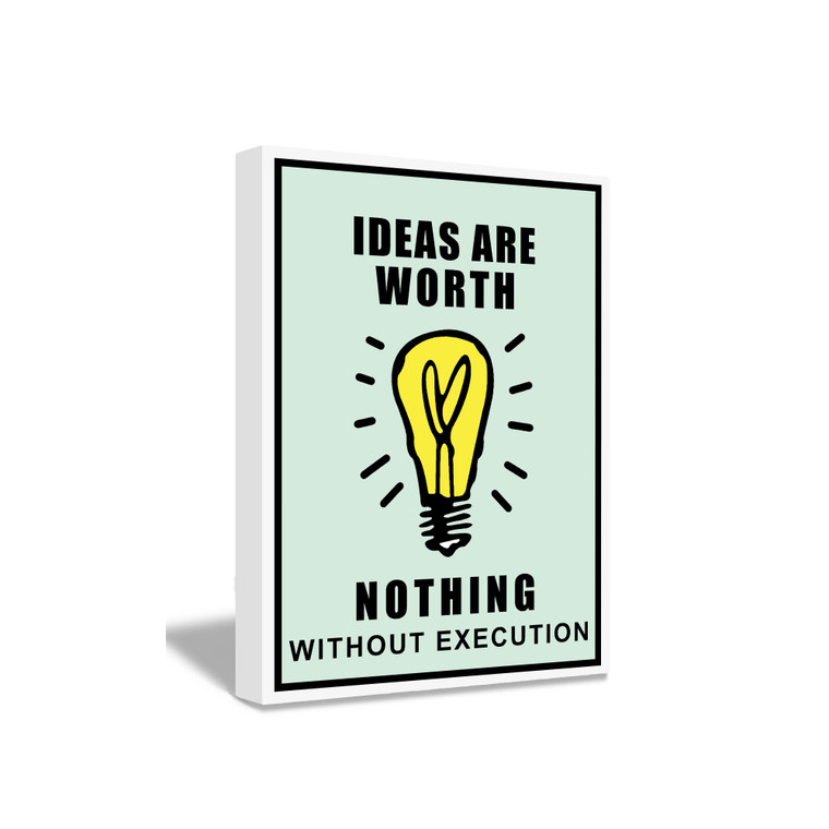 MONOPOLY - IDEAS ARE WORTH NOTHING