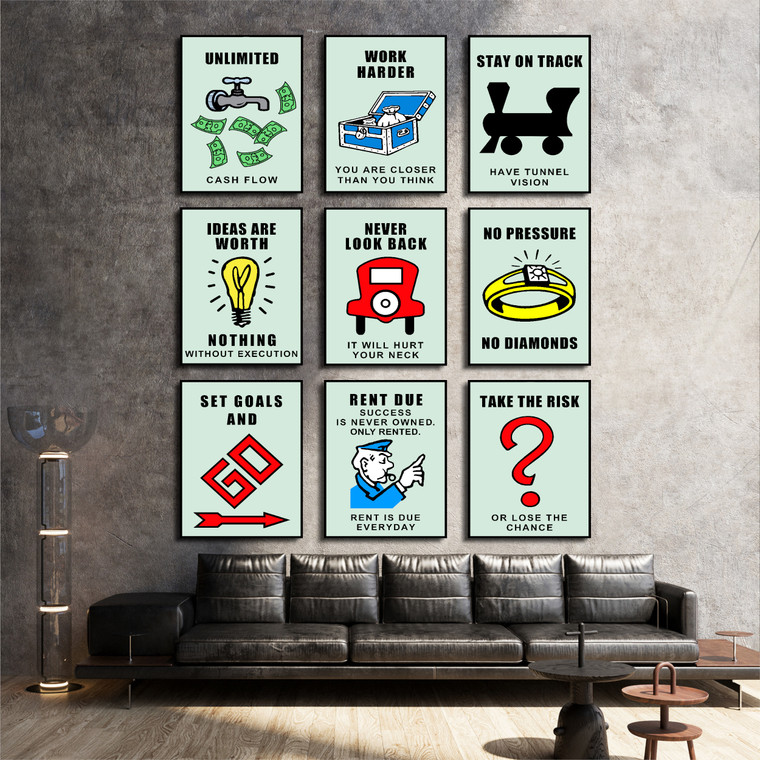 Discounted Set of 9 Official Monopoly 1 st Edition