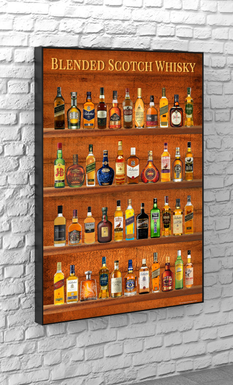 BLENDED SCOTCH WHISKY, the best poster for man caves. If you need poster or canvas for birhday, this is for you.