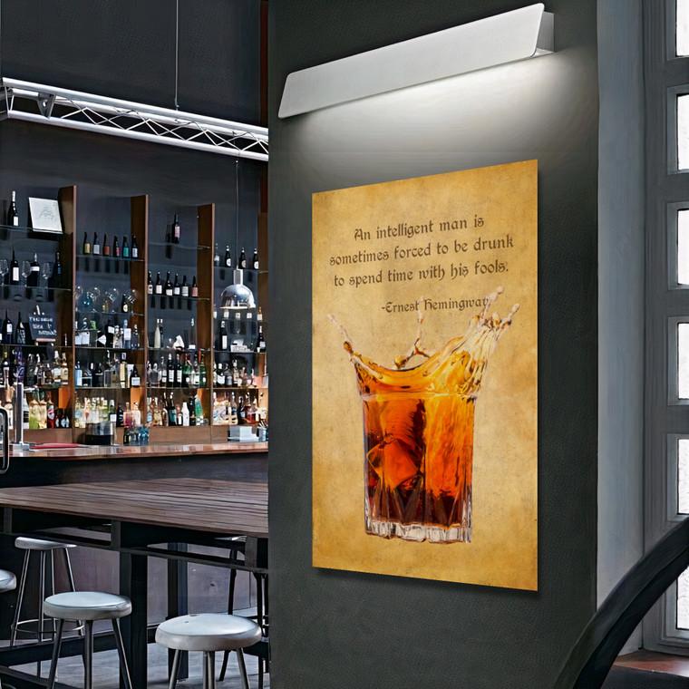 OLD WHISKY GLASS ERNEST HEMINGWAY E
