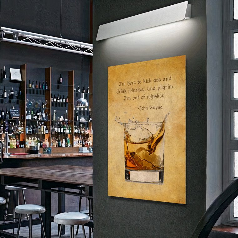 OLD WHISKY GLASS JOHN WAYNE F