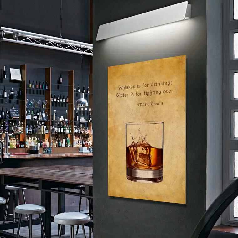 OLD WHISKY GLASS MARK TWAIN G