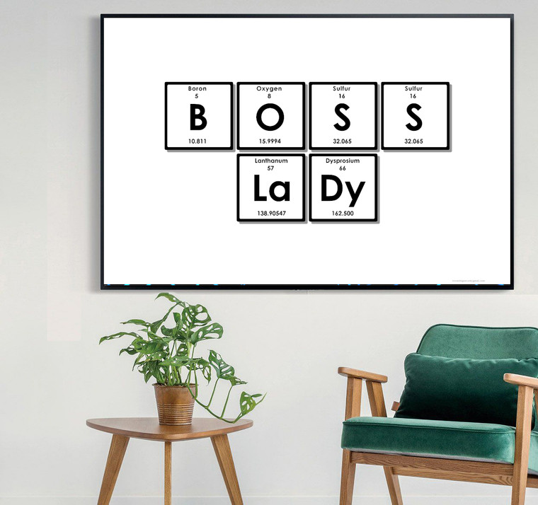 BOSS LADY ELEMENT SINGS Inspirational Print Home Wall Art Decor Home Wall Art Print Great for Gift Home Wall Decor Picture Poster / Canvas