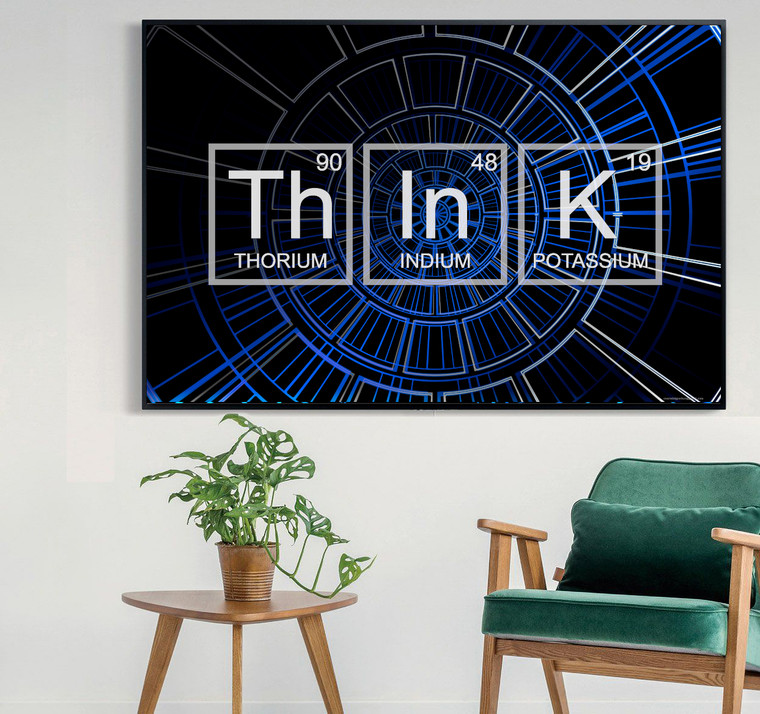 THINK ELEMENTS SINGS Inspirational Print Home Wall Art Decor Home Wall Art Print Great for Gift Home Wall Decor Picture Poster / Canvas