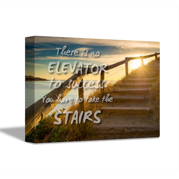 MOTIVATION 1-STAIRS Inspirational Print Home Wall Art Decor Home Wall Art Print Great for Gift Home Wall Decor Picture Poster / Canvas