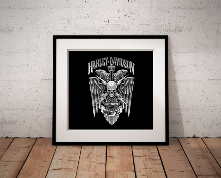 HARLEY DAVIDSON Inspirational Print Home Wall Art Decor Great for Gift Home Picture Poster / Canvas