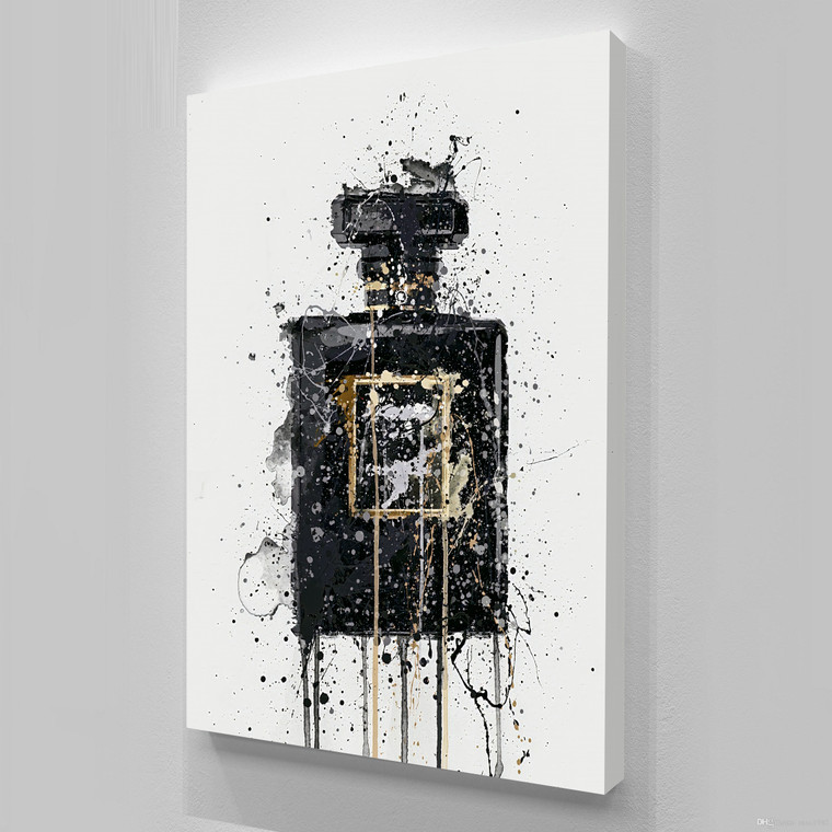 PERFUME BLACK ANEL Inspirational Print Home Wall Art Decor Home Great for Gift Home Picture Poster / Canvas