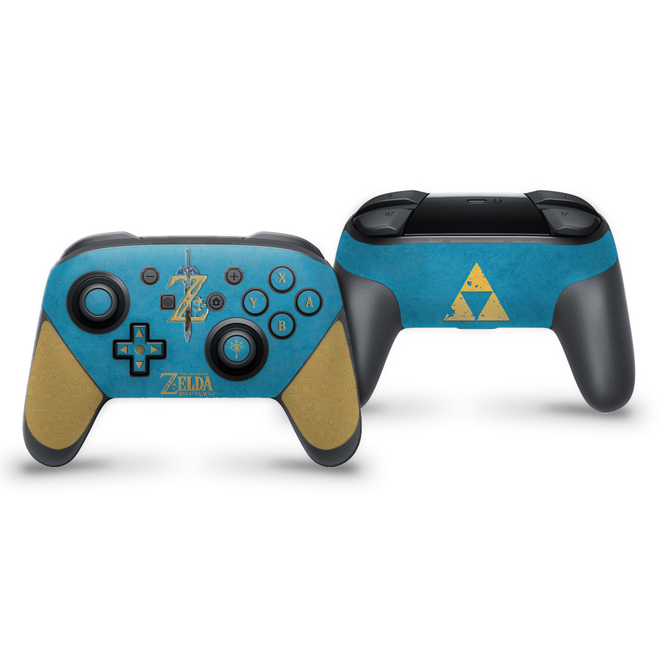 The Legend of Zelda Botw Champion Blue Switch Pro Controller Skin