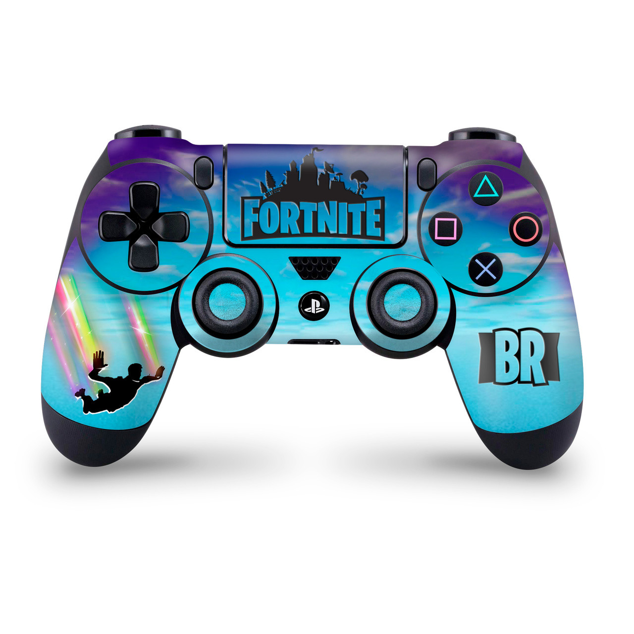 Stormy Sky Rainbow Trails Ps4 Controller Skin
