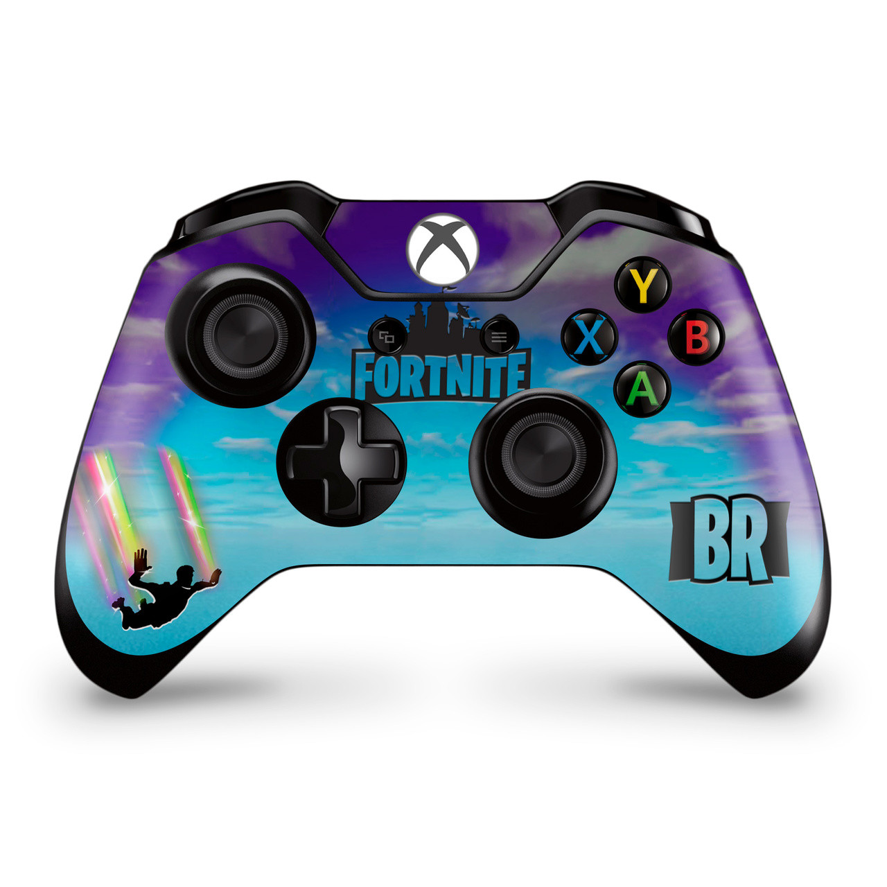 Stormy Sky Rainbow Trails Xbox One Controller Skin