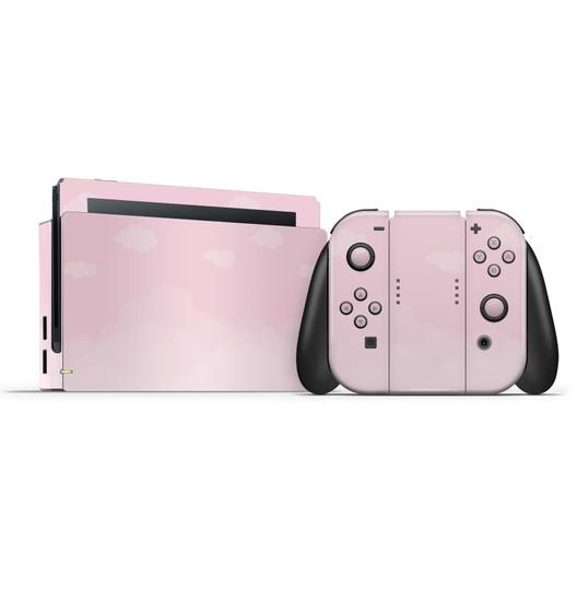 Pastel Pale Rose Clouds Nintendo Switch Skins