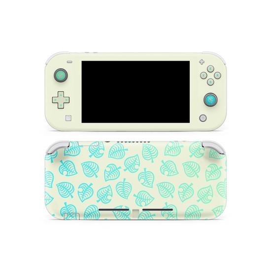 Nintendo Switch Lite AC Leaf Pattern V3 Skin