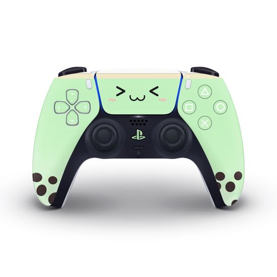 Green Bubble Tea Playstation 5 Controller Skin