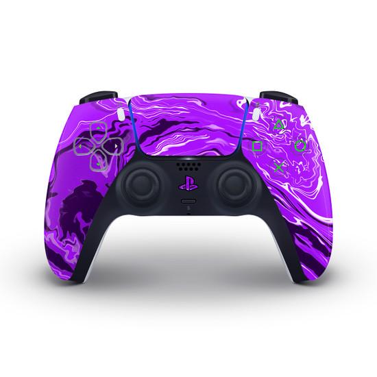 Purple Marbling PlayStation 5 Controller Skin