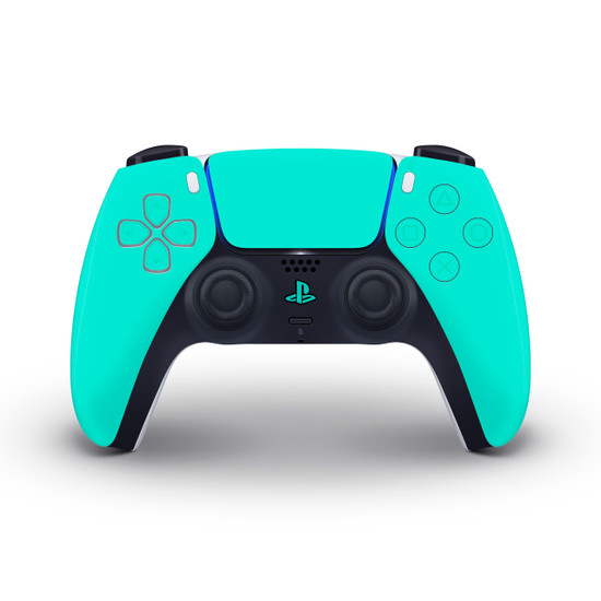 Happy Turquoise Playstation 5 Controller Skin