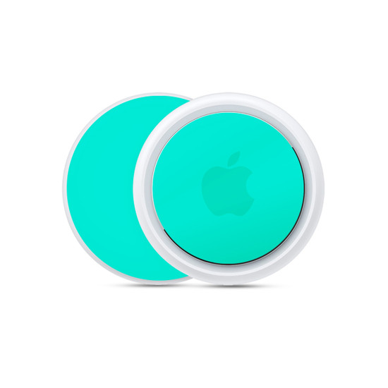 Happy Turquoise Apple AirTag Skin