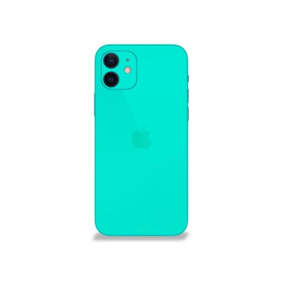 Happy Turquoise Apple iPhone 12 Skin