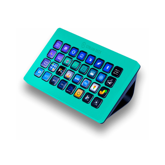 Happy Turquoise Elgato Stream Deck XL Skin